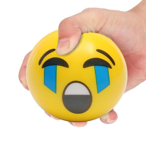1PC Kids Face Expression Squeeze Ball PU Hand Wrist Exercise Stress Relief Funny Slow Rebound Ball Novelty Gag Toy Random Color