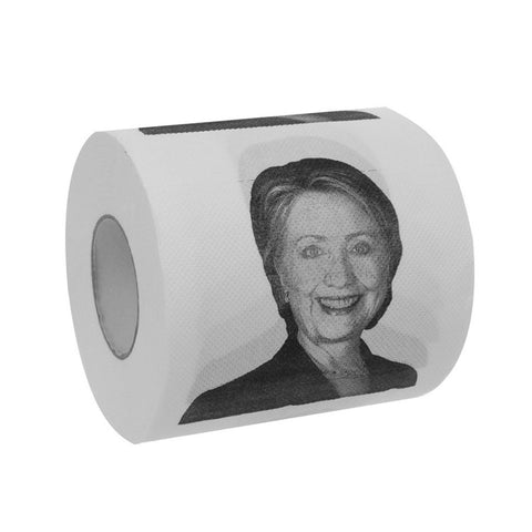 10cm Hillary Clinton Toilet Paper Roll Novelty Political Party Gag Gift Prank Humor Fun Joke
