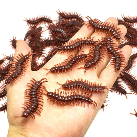 2pcs Simulated Bug Artificial Centipedes Funny Practical Jokes For Halloween Haunted House E2S