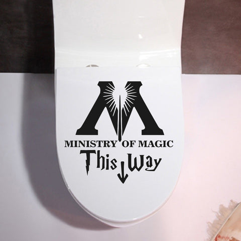 Ministry Of Magic This Way Inspired Toilet Sticker Funny Toilet Restroom Decals