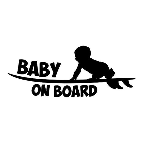 Baby on Board Funny Reflective Sticker Car Sticker