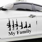 Funny My Family Gun Car Window Decor Vinyl Decal Sticker