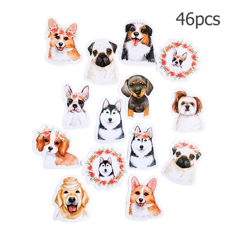46pcs Colorful Letter Printed Baby Sticker Toys Decoration DIY Diary Scrapbooking Albumn Making Decor Stickers