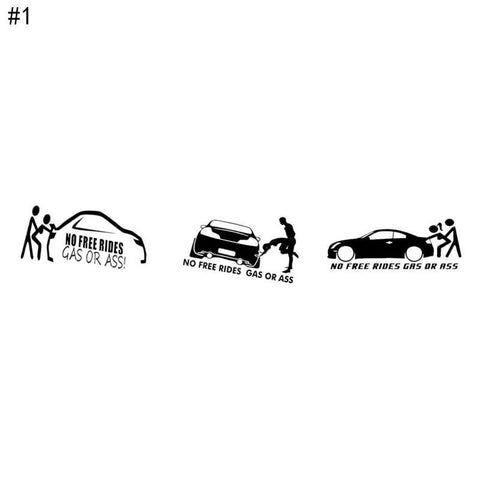 1PCS Funny Gas Car Stickers Auto Motorcycle Decals