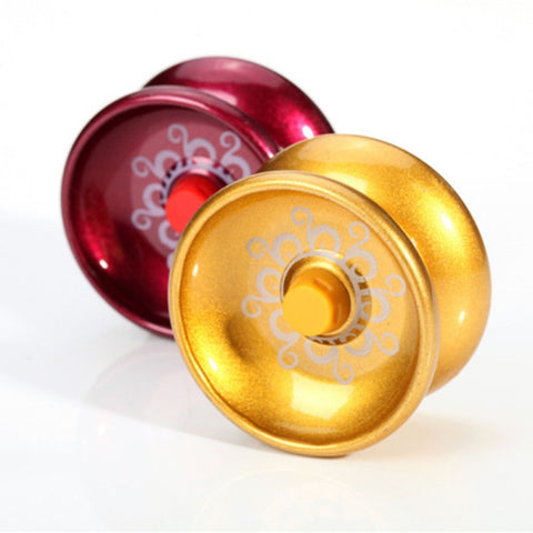Random Color Cool Aluminum Alloy Design Toys High Speed Professional YoYos Ball Bearing String Trick Kids Juggling Toys