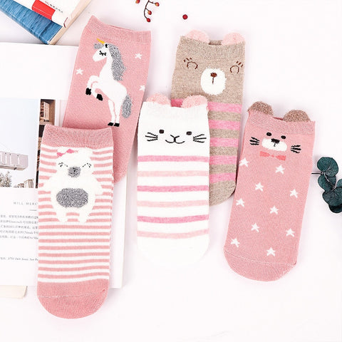 Fashion Cartoon Character Cute Short Socks Women Harajuku Cute Patterend Ankle Socks Hipster  Funny Socks Female Dropshipping