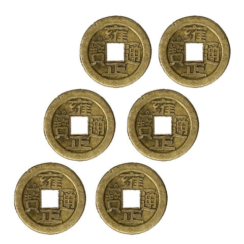 5 Lucky Chinese Coin Oriental Emperor Money Hole Hanging Decor New Hot