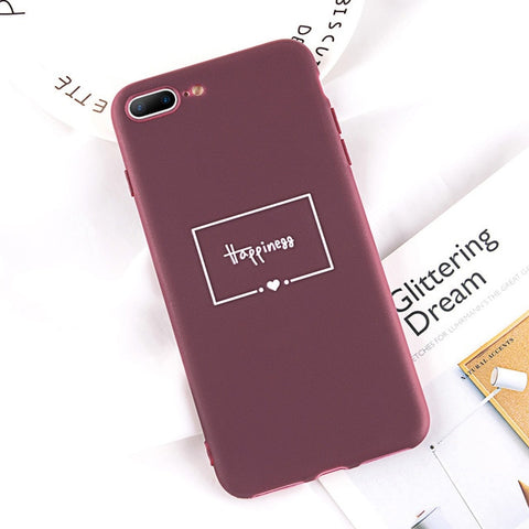USLION Funny Letter Phone Case For iPhone 7 6 6S Plus TPU Silicon Cases For iPhone XS MAX XR X 8 Plus Ultrathin Matte Soft Cover
