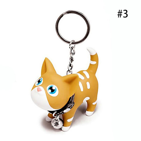 5 Colors Cute Funny Cat Key Buckle Key Ring  Kiss Baby Key Chain