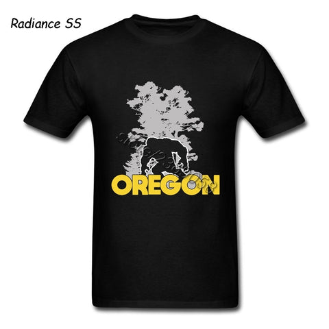 Cool Mens T-Shirts Newest Short Sleeve Bigfoot Oregon Adult T Shirts Organic Cotton Tops