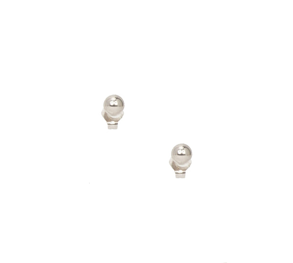 14k Large White Gold Studs