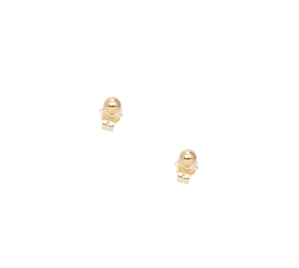 14k Small Gold Studs