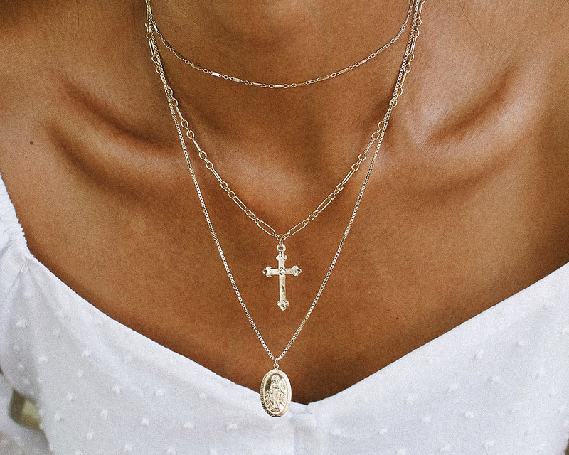 St. Mary Necklace - 14K Gold Filled