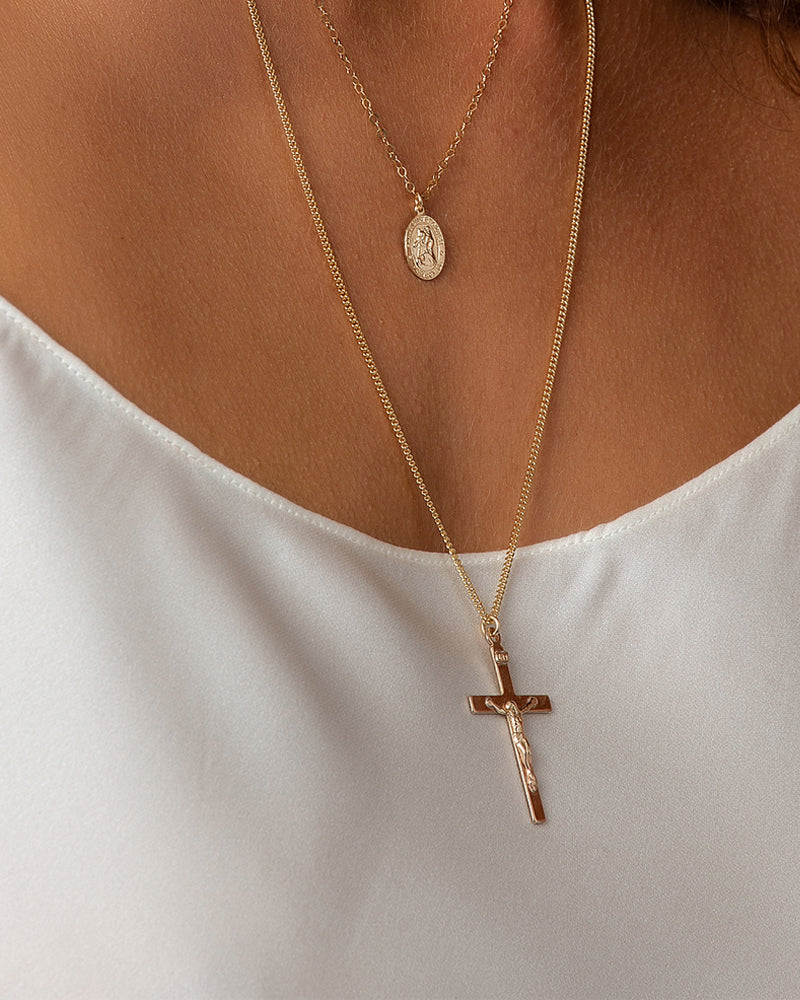 Curb Cross Necklace