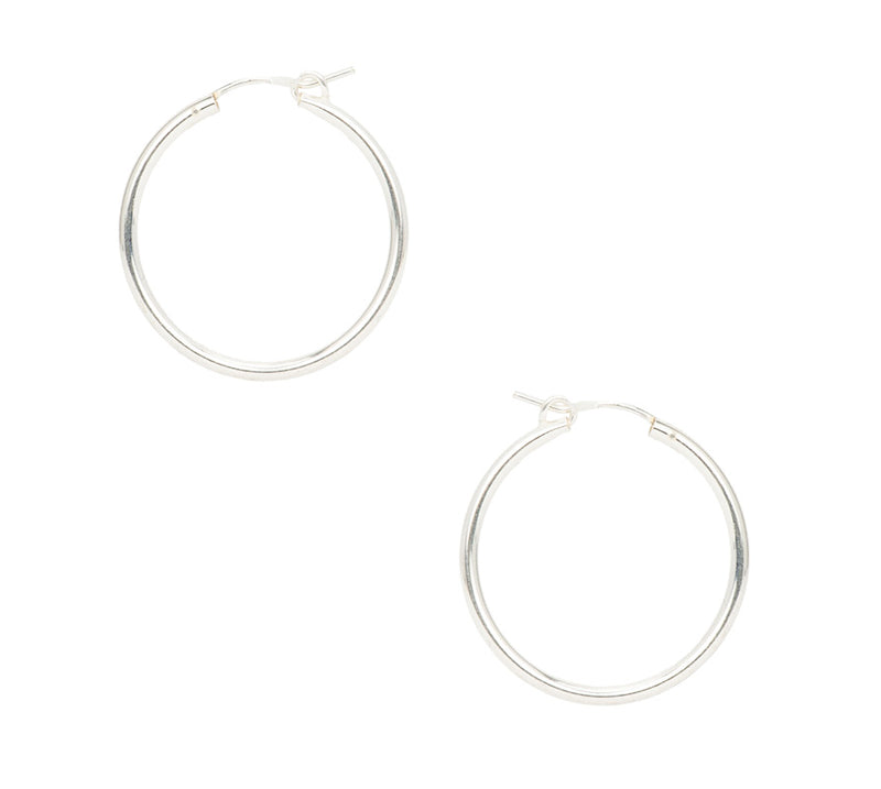 Silver Gia Hoops
