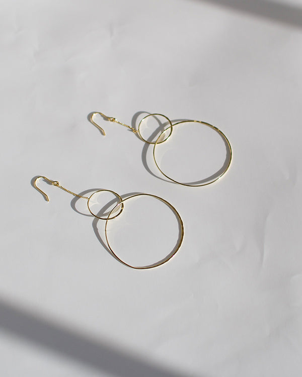 Gold Interlocking Hoops