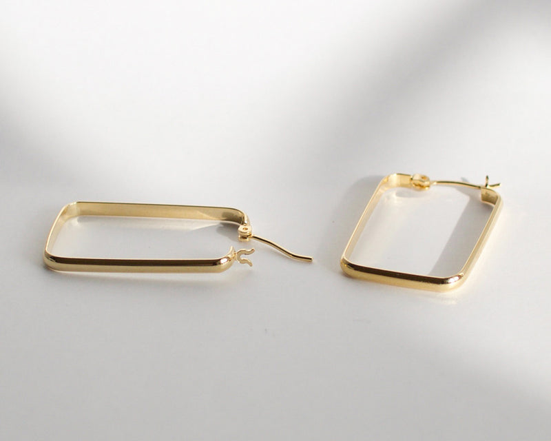 Harp Rectangular Earrings