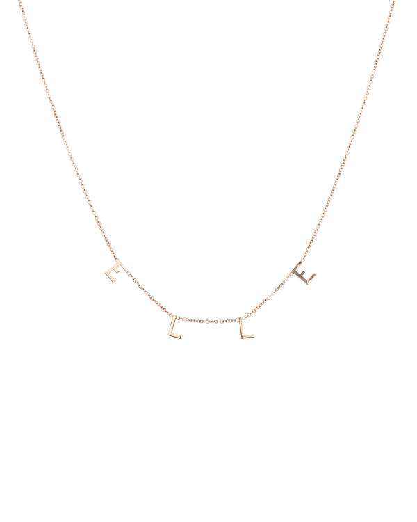 14k Spaced Letterdrop Necklace