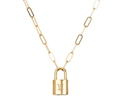 Vintage LV Lock Necklace