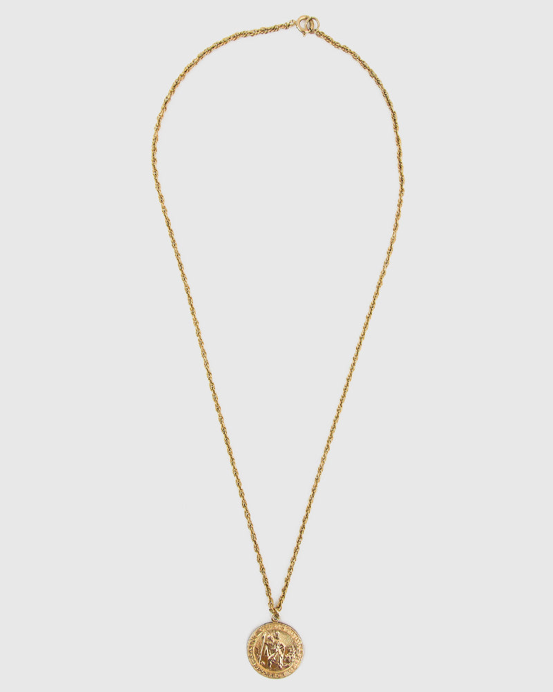 St. Christopher Pendant Necklace - 14K Gold Filled