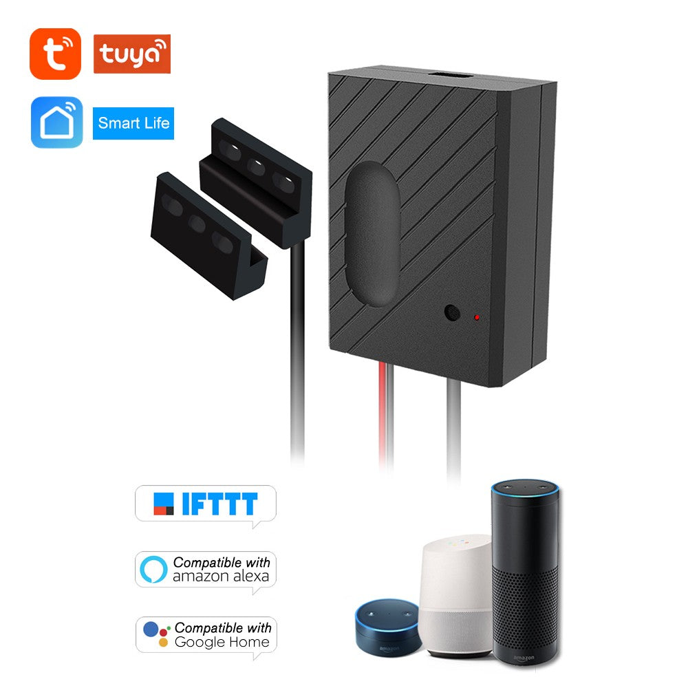 "WiFi Smart Switch Garage Door Controller Compatible Garage Door Opener Smart Phone Remote Control APP ""Tuya/SmartLife"" Timing Function Compatible with Amazon Alexa and for Google Home for Voice Control IFTTT"