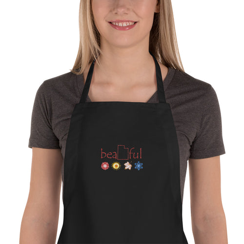 Seasons Embroidered Apron