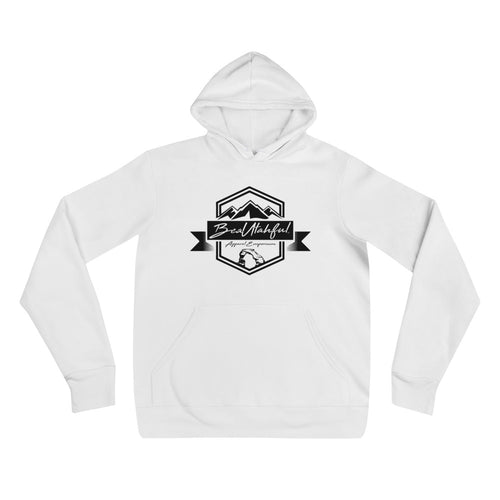 Black on White Unisex hoodie