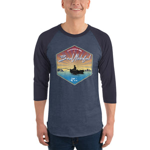 Let's go Fishing 3/4 sleeve raglan shirt