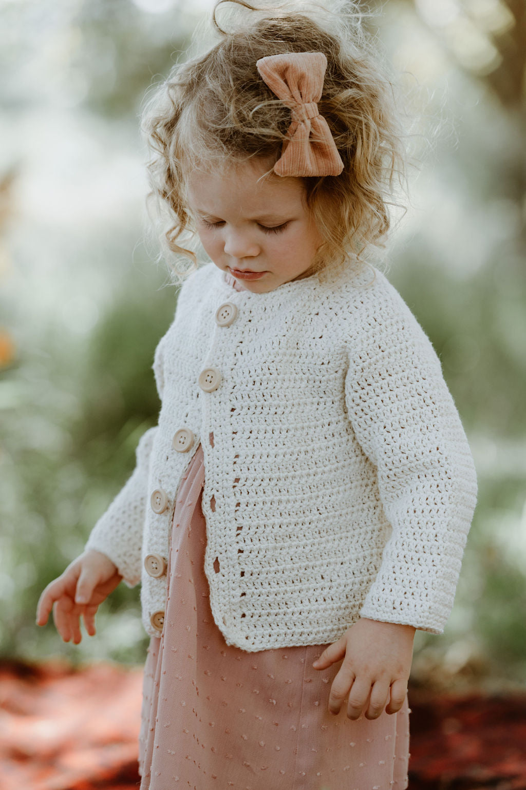 Cotton crocheted cardi