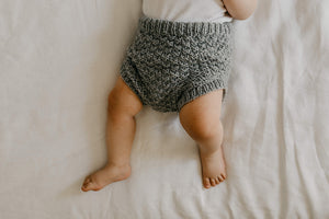 Knitted puffy pants