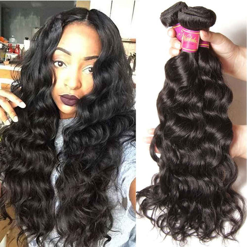 Virgin Human Hair Weave Body Wave Hair 3 Bundles With Lace Frontal Closure