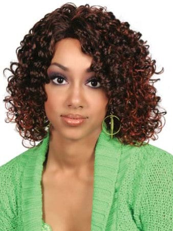 Noble Short Wavy Brown African American Lace Wigs for Women