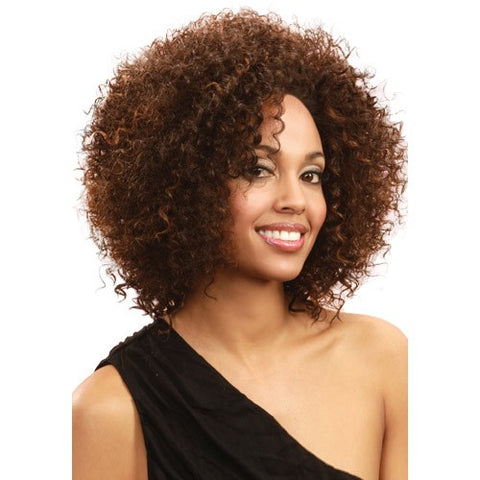 Online Short Curly Brown No Bang African American Lace Wigs for Women 10 Inch