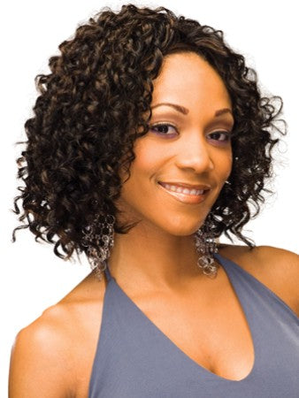 Mysterious Cool Short Wavy Sepia African American Lace Wigs for Women