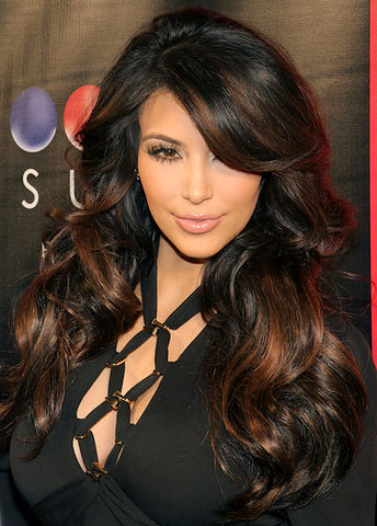 100% Human Hair Sepia Long Wigs Capless Top-rated Wigs