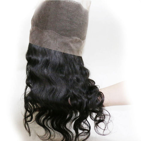 360 Full Lace Frontal Closure Body Wave Unprocessed Virgin Human Hair Lace Frontal