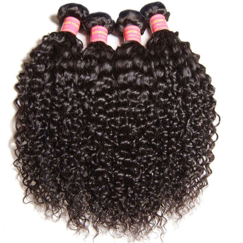 Natural Wave Lace Frontal And 3 Bundles Hair Weave Soft Virgin Hair With 13x4 Ear To Ear Frontal