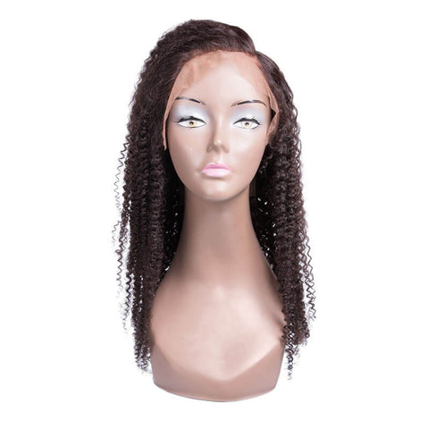 Kinky Curly Human Hair Lace Frontal Wig For Black Girls