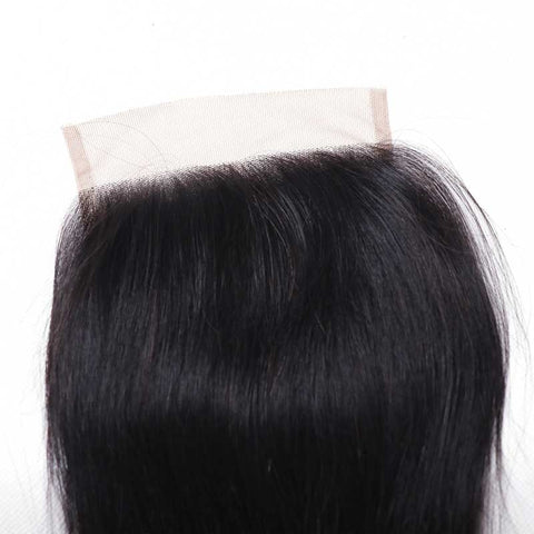Ombre Free Part Lace Closure Straight 100% Virgin Human Hair 1b/4/27