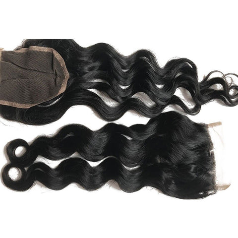 Natural Wave Virgin Hair Lace Closure Free Part 10in-20in 4x4 Closure