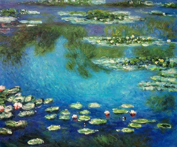 Famous Art Prints Water Lilies Painting by Claude Monet