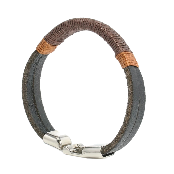 Vintage Hemp Wrap Men's Leather Bracelet