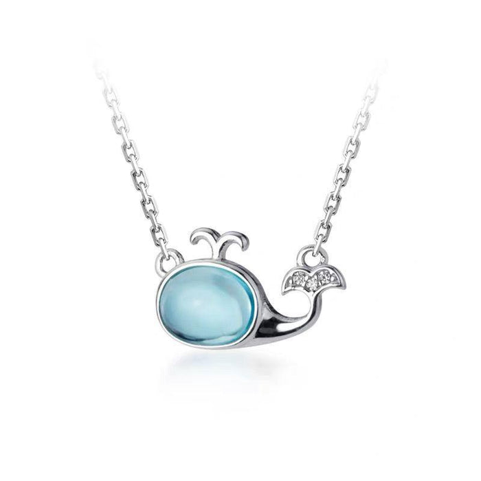 Perfect Gift For Ocean, Whale Lovers—Ocean Whale Necklace