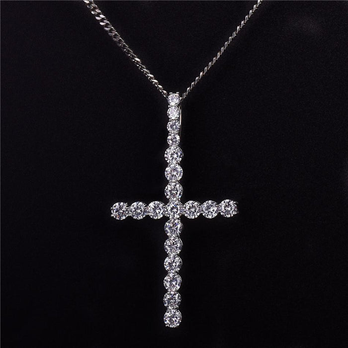 Cross Pendants Necklace-  Women's Hip Hop Jewelry