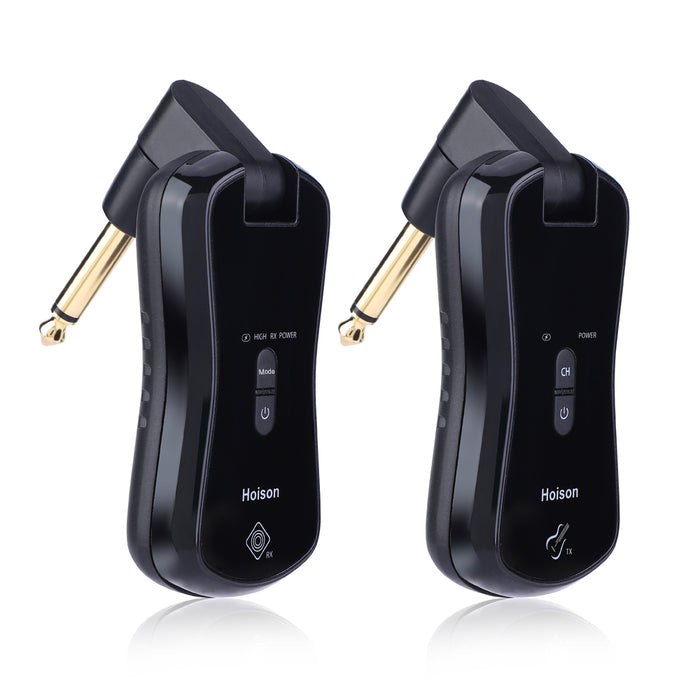 Hoison S8 Wireless Guitar System Wireless Audio Electric Guitar Transmitter Receiver 4 Channels Transmission Range High Frequency Battery Rechargeable (10 Channels+2 Modes)