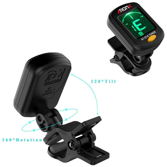Digital clip on guitar tuner
