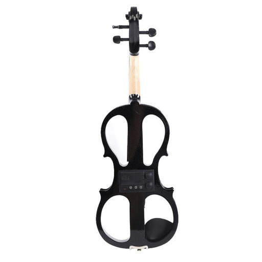 Maple Wood 4/4 Electric Violin Fiddle with Bow Headphone Audio Cable Accessories