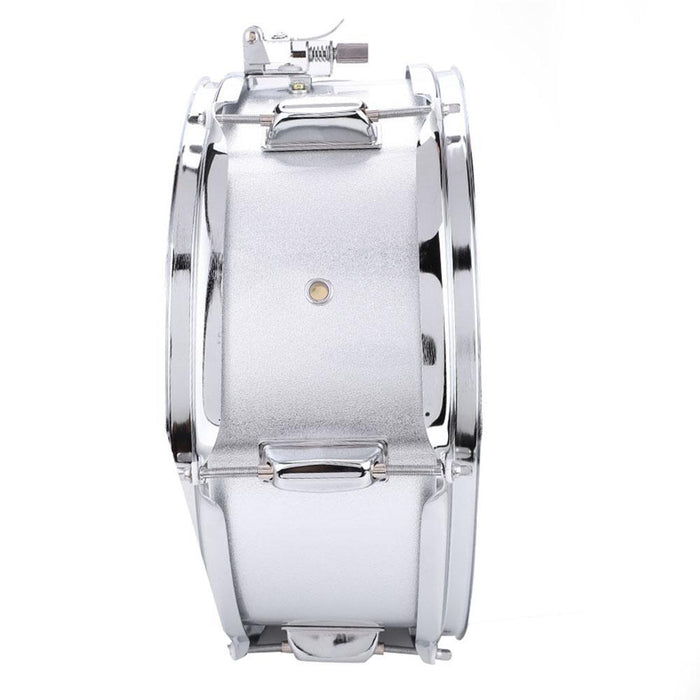 Stainless Steel Snare Drum PVC Drumhead Kit with Bag Stick Shoulder Strap Mute