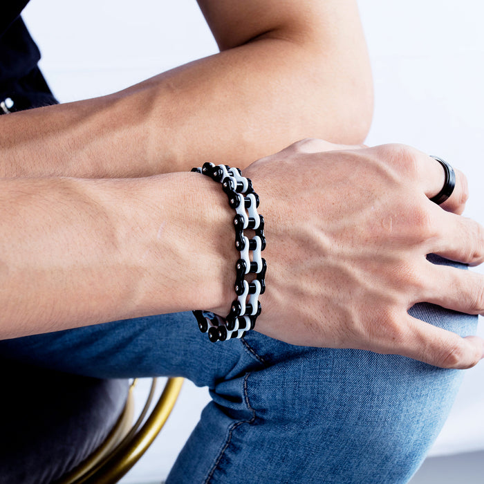 Fashion punk stainless steel chain jewelry personality trend motorcycle bicycle bracelet men