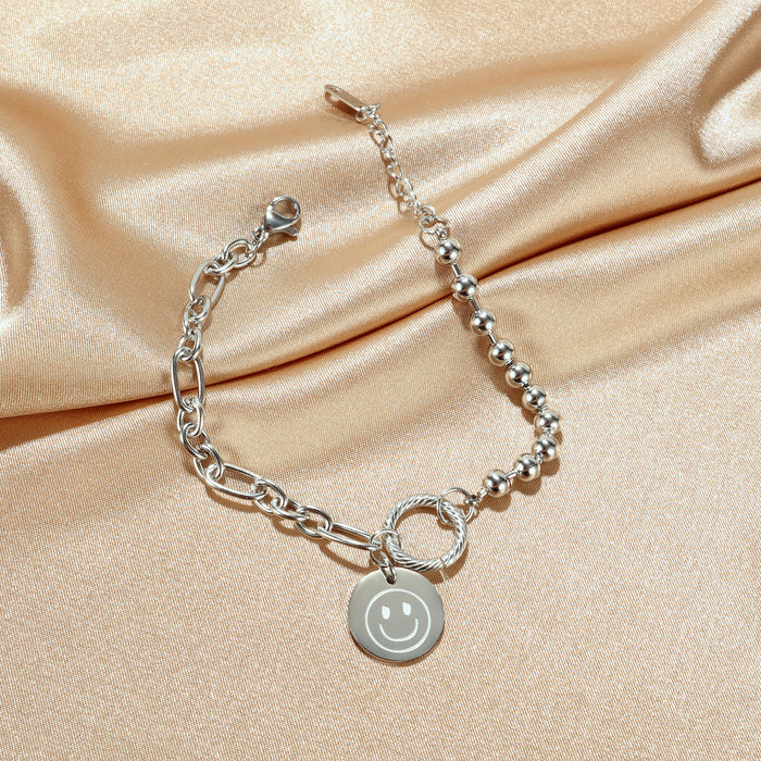 All-match chain round bead titanium steel bracelet women